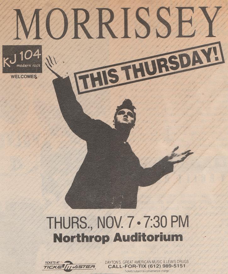 Morrissey Nov 7, 1991, Northrop Auditorium, MNb.png