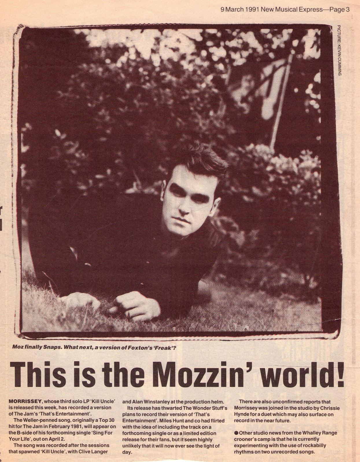 Moz NME 9th March 1991..jpg
