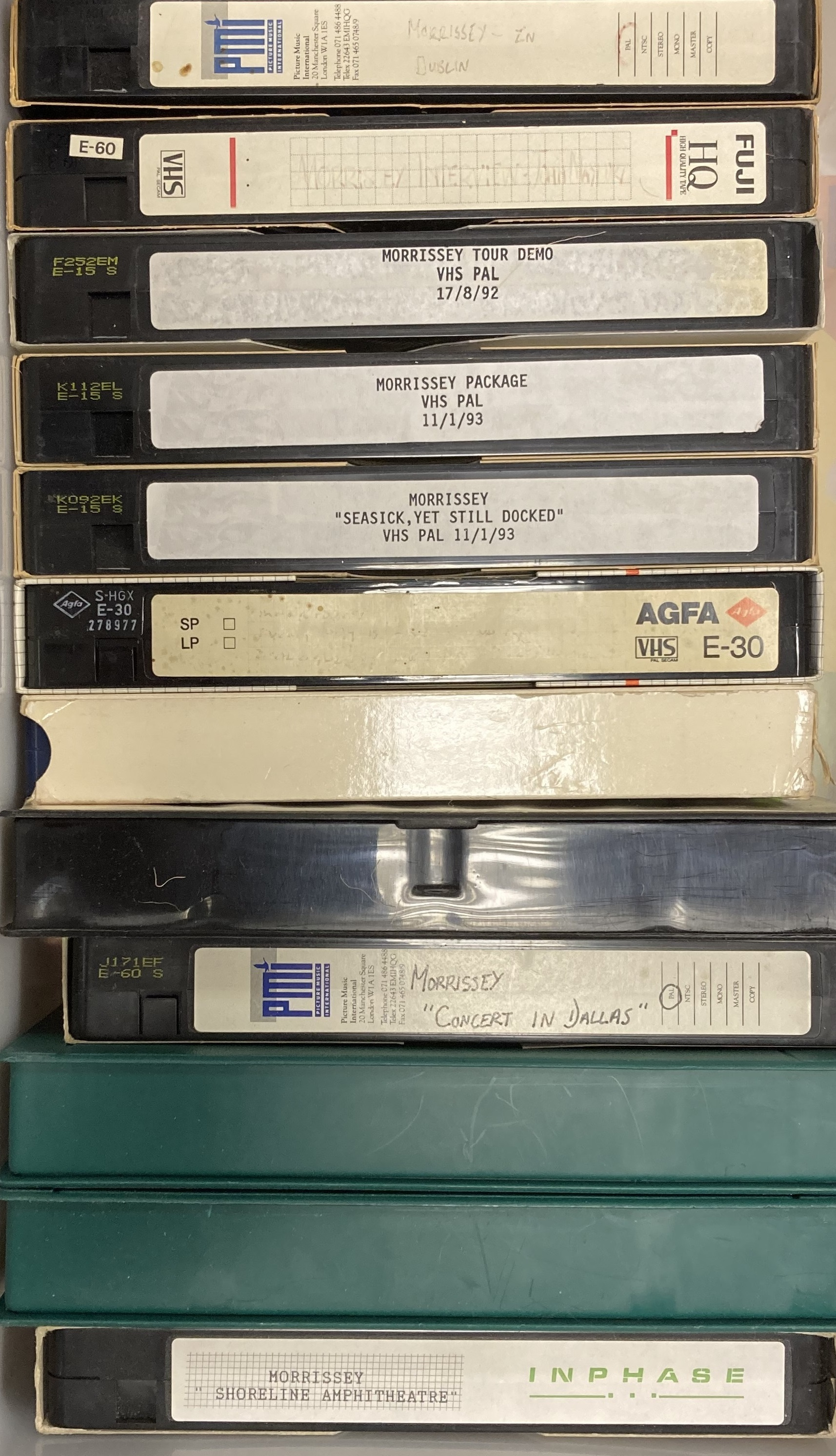 ROUGH TRADE ARCHIVE - MORRISSEY RARE VHS TAPES Lot 451 (i).jpg