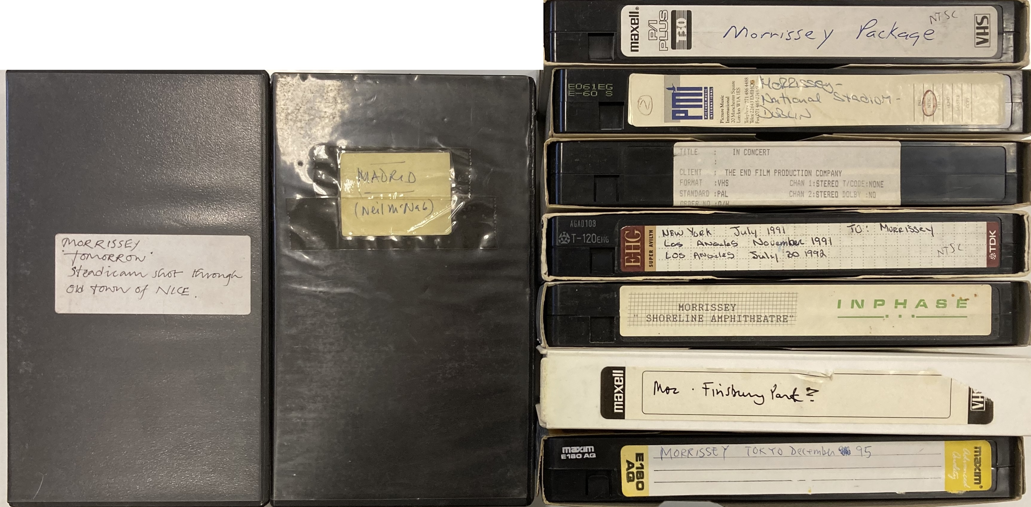 ROUGH TRADE ARCHIVE - MORRISSEY VHS TAPES Lot 455 (i).jpg