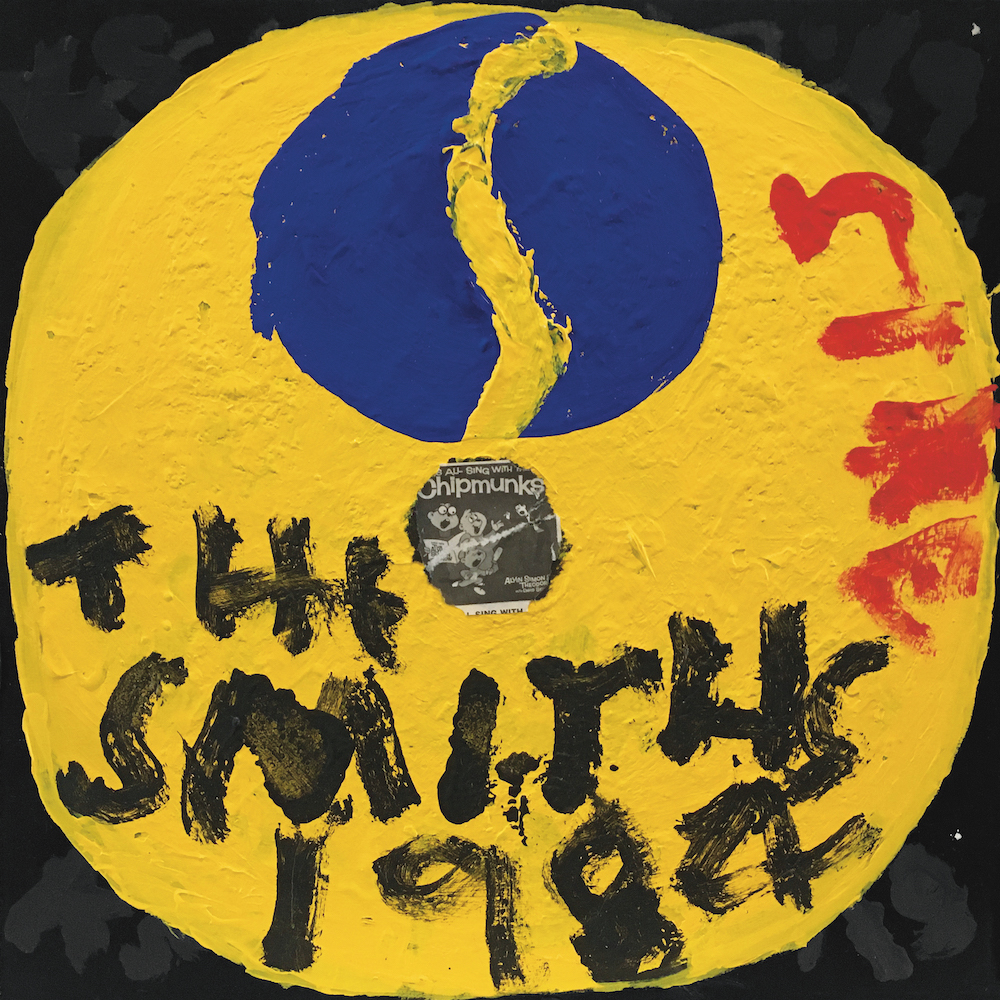 Kerry Smith 'The Smiths - First Record' 2020, gouache and liner notes on board, 12 x 12.jpg